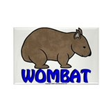 Wombat Logo III Rectangle Magnet