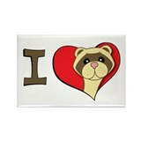 I heart ferrets Rectangle Magnet (10 pack)