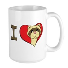 I heart ferrets Coffee Mug