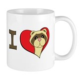 I heart ferrets Mug