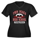 Twin Peaks PE Audrey Women's Plus Size V-Neck Dark
