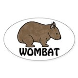 Wombat Logo II Oval Decal