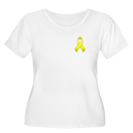 Yellow Awareness Ribbon Women's Plus Size Scoop Ne