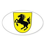 Stuttgart Coat of Arms Oval Sticker