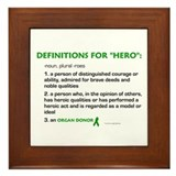 HERO Definitions (Organ Donor) Framed Tile
