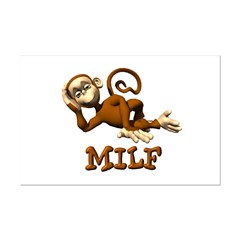 MILF Monkey Mini Poster Print