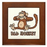 Bad Monkey Framed Tile