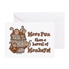 Barrel of Monkeys Greeting Card