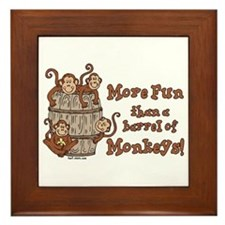 Barrel of Monkeys Framed Tile