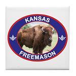 Kansas Free Mason Tile Coaster