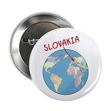 "Slovakia Globe 2.25"" Button (100 pack)"