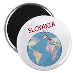 Slovakia Globe Magnet