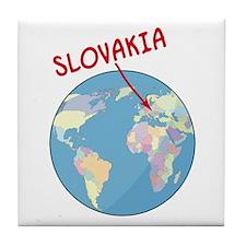 Slovakia Globe Tile Coaster