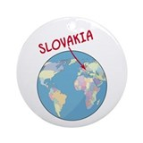 Slovakia Globe Ornament (Round)