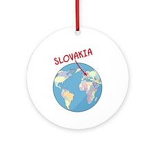 Slovakia Globe Ornament (Round)