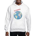 Slovakia Globe Hooded Sweatshirt