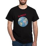 Slovakia Globe Dark T-Shirt