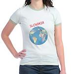 Slovakia Globe Jr. Ringer T-Shirt