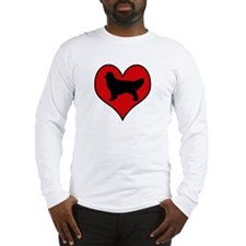 Golden Retriever heart Long Sleeve T-Shirt