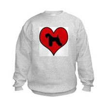 Kerry Blue Terrier heart Sweatshirt