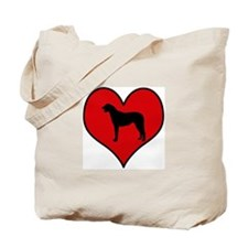 Irish Wolfhound heart Tote Bag