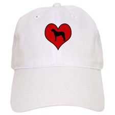 Irish Wolfhound heart Baseball Cap