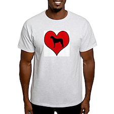 Irish Wolfhound heart T-Shirt