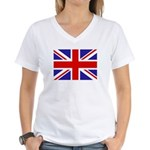 British Flag Women's V-Neck T-Shirt