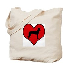 Pharoah Hound heart Tote Bag