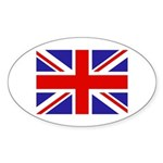 British Flag Oval Sticker