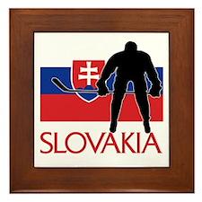 Slovak Hockey Framed Tile