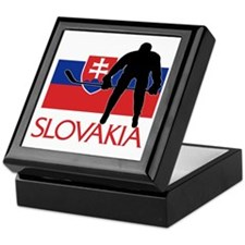 Slovak Hockey Keepsake Box