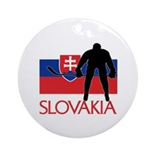 Slovak Hockey Ornament (Round)