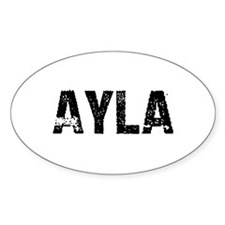 Ayla Oval Decal