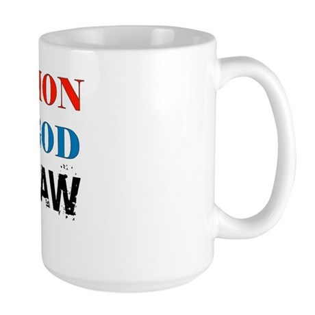 Under God Above Law Large Mug