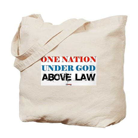 Under God Above Law Tote Bag