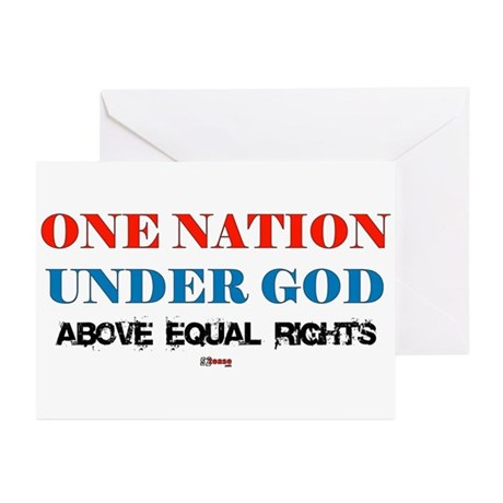One Nation Above Equal Rights Greeting Cards (Pack