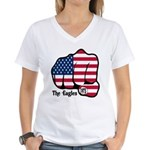 USA Fist 1975 Women's V-Neck T-Shirt