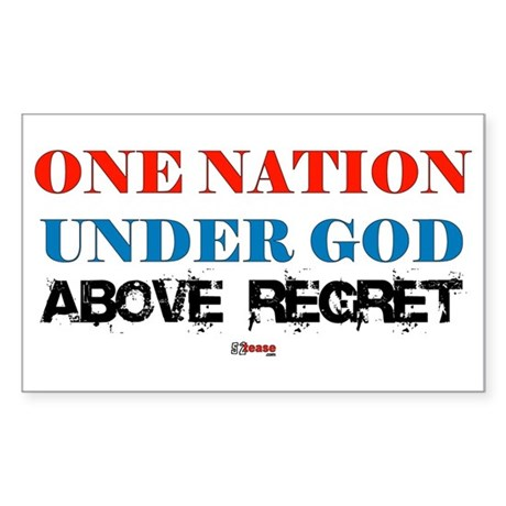 One Nation Above Regret Rectangle Sticker