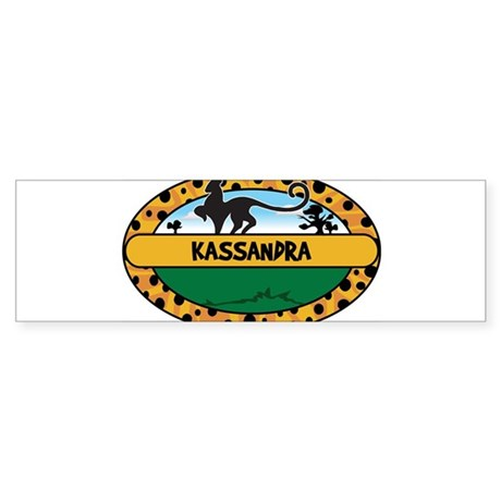 KASSANDRA - safari Bumper Sticker