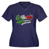 California Italian Style Women's Plus Size V-Neck