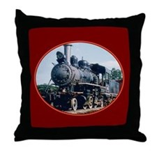Steam Train Throw Pillow