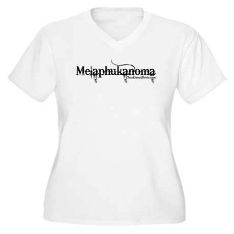 Melaphukanoma Women's Plus Size V-Neck T-Shirt