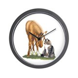 Mini Horse and Cat Wall Clock