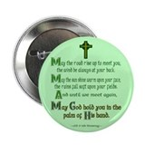 Irish Blessing &quot;May the Road&quot; 2.25&quot; Button (100 pa