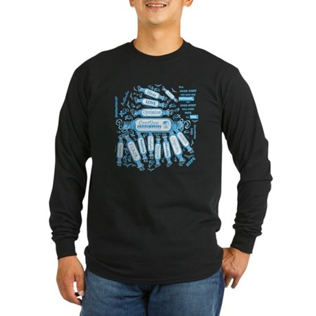 Creative Thought Graphic Long Sleeve Dark T-Shirt