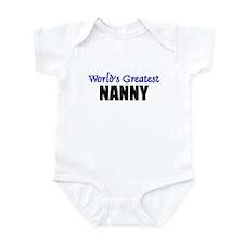 Worlds Greatest NANNY Infant Bodysuit
