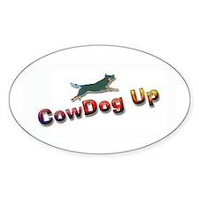 "AuCaDogs ""CowDog Up""TM Photo Art Oval Decal"