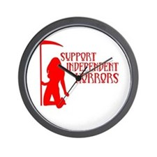 Support Independent Horrors Wall Clock