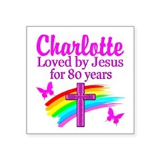 "80TH PRAYER Square Sticker 3"" x 3"""